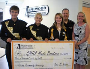 applewood-donation-GMHS-music-boosters