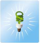 photo manipulation of economical light bulb
