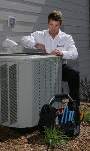 HVAC Technician with Compressor 5