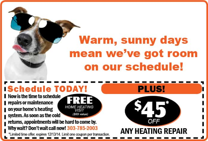 WARM WEATHER HEATING OFFER