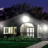 home-at-night-with-outdoor-lights-on