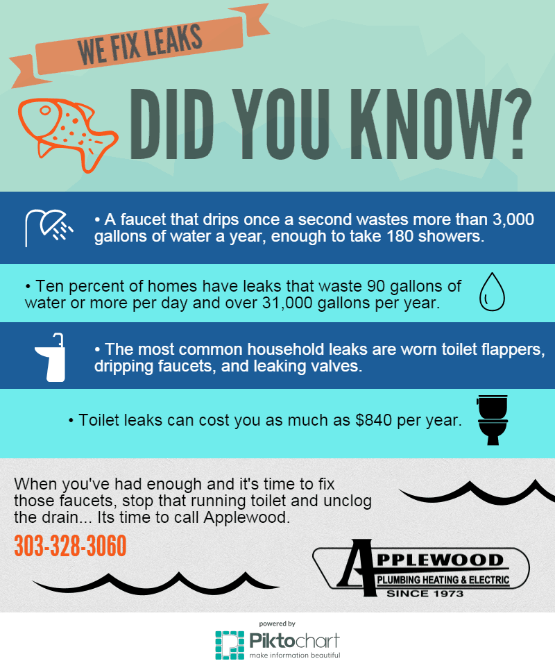 applewood water leaks infographic