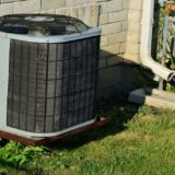 An applewood outdoor air conditioner
