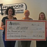 Applewood Plumbing Heating & Electric Awards $1,000 to Re:Vision