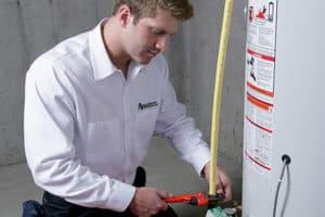 plumber fixing heating
